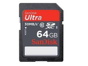 SanDisk Ultra 64GB 64G SD SDHC SDXC Flash Memory Card Class 10 30MB/s with USB 3.0 Card Reader