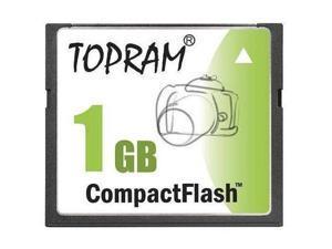 TOPRAM 1GB 1G CF CompactFlash Card Compact Flash SLC Flash - Bulk - OEM