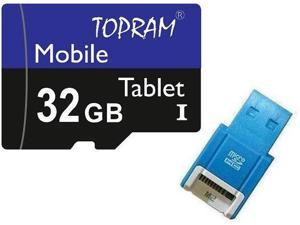 TOPRAM 32GB 32G microSD microSDHC micro SD SDHC Card Class 10 Ultra High Speed UHS-I for Mobile & Tablet +R10B
