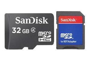 SanDisk 32GB 32G microSD microSDHC micro SD SDHC Card Class 4 with USB Card Reader R1 - OEM