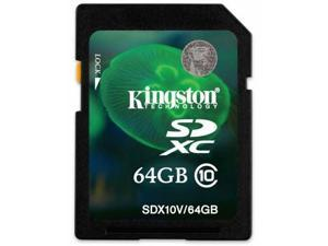 Kingston 64GB 64G SDXC SD SDHC HD Video Secure Digital Card Class 10 with Memory Protective case