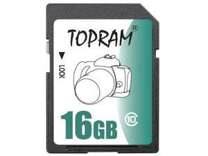 TOPRAM 16GB SD 16GB SDHC Card Class 10 Extreme Speed for Camera & Camcorder