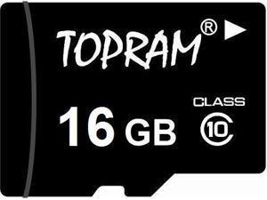 TOPRAM 16GB 16G microSD microSDHC micro SD Class 10 C10 Memory Card