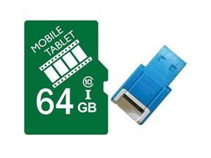 FilmPro 64GB microSD microSDHC 64G microSDXC micro SD SDHC UHS-I Class 10 Card with USB 2.0 Card Reader fit Galaxy S3 S4