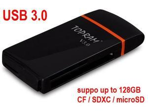 TOPRAM RV35 - USB 3.0 CF CompactFlash SD SDXC microSD microSDXC Card Reader support 8GB 16GB 32GB 64GB up to 128GB - OEM