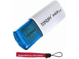 TOPRAM 64GB TOP3002 Lipstick USB 3.0 64G Flash Memory Drive Retractable Design Extreme Fast up to R:140MB/s W:20MB/s