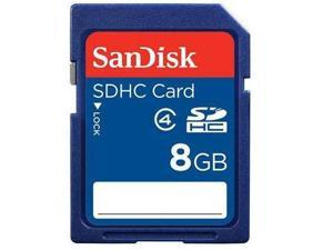 SanDisk 8GB 8G Secure Digital High-Capacity (SDHC) Flash Card Class 4 with USB card Reader