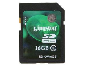 Kingston 16GB SD 16G SDHC Secure Digital Card Class 10 SD10V/16GB with oem USB Reader
