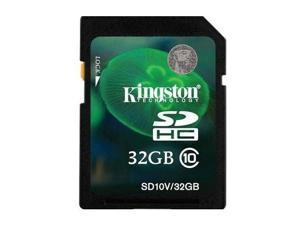 Kingston 32GB SD 32GB SDHC Secure Digital Card Class 10 with oem USB Reader