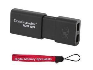 Kingston 64GB DataTraveler 100 G3 64G USB 3.0 Flash Drive DT100G3/64GB with USB Lanyard