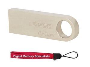 Kingston 64GB DataTraveler SE9 64G USB 2.0 Flash Drive DTSE9H/64GB with Lanyard