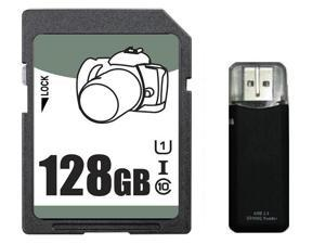 OEM 128GB SD SDHC 128GB SDXC Card Class 10 Ultra High Speed UHS-I for Camera & Camcorder with USB 2.0 Reader