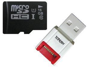 Samsung OEM 16GB 16G microSD microSDHC micro SD SDHC Card Class 10 UHS-I fit Galaxy S3 S4 Phone with USB card Reader - OEM
