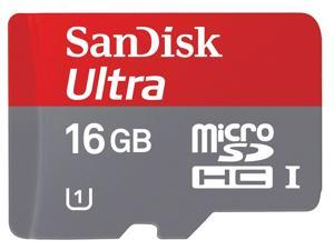 SanDisk 16GB microSD 16GB microSDHC Card Mobile Ultra Class 10 UHS-I UHS-1 with USB Card Reader R10W