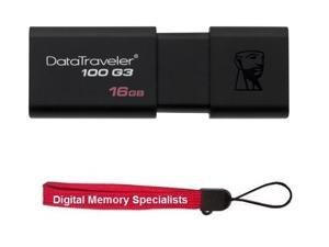 Kingston 16GB DataTraveler 100 G3 16G USB 3.0 Flash Drive Model DT100G3/16GB with Lanyard