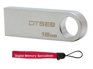 Kingston DataTraveler SE9 16GB USB 2.0 Flash Drive Model DTSE9H/16GBZ +Lanyard