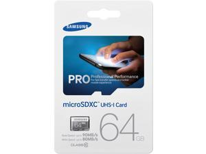 Samsung Pro 64GB 64G 90MB/s microSDXC microSD micro SD SDXC UHS-I Class 10 Memory Card for GALAXY S4 S5 with OEM SD Adapter
