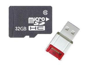 OEM 32GB 32G microSD microSDHC SD SDHC Card Class 10 with USB Card Reader - OEM