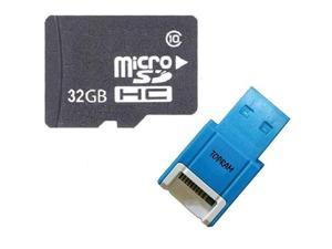 OEM 32GB 32G microSD microSDHC SD SDHC Card Class 10 for Samsung Galaxy S3 S4 Note with R10b Card Reader