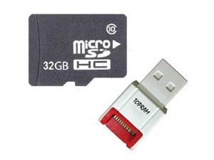 OEM 32GB 32G microSD microSDHC SD SDHC Card Class 10 for Samsung Galaxy S3 S4 Note with USB 2.0 Card Reader - OEM