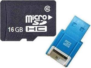 OEM 16GB 16G microSD microSDHC SD SDHC Card Class 10 with R10b Card Reader