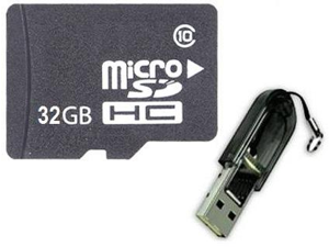 OEM 32GB 32G microSD microSDHC SD SDHC Card Class 10 with R13 Card Reader
