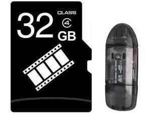 FilmPro 32GB 32G microSD microSDHC micro SD Class 4 C4 Memory Card +R1 Reader