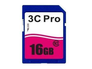 3C Pro 16GB SD 16GB SDHC Card Class 10 Extreme Speed for Camera