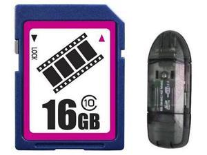 FilmPro 16GB SD 16GB SDHC Card Class 10 Extreme Speed for Camera with R1 Reader