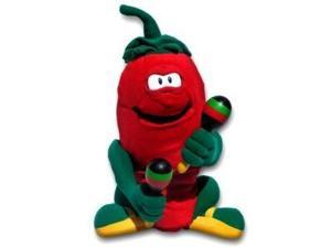 "14"" Animated Plush Singing Chili Pepe Pepper ""Hot Hot Hot"" With Maracas"