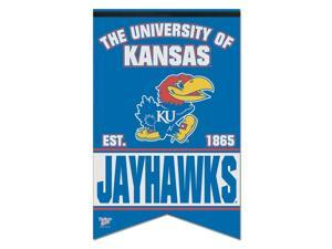 "Kansas Jayhawks Official NCAA 17""x26"" Banner Flag by Wincraft"