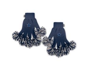 Dallas Cowboys Official NFL One Size Spirit Fingers Pom Gloves by Wincraft
