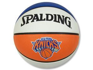 "New York Knicks Official NBA 29.5"" FulL Size Rubber Outdoor Basketball by Spalding"