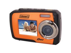 COLEMAN 2V7WP-O 14.0 Megapixel Duo Underwater Dual Screen Digital Camera (Orange