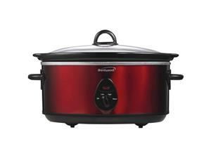 BRENTWOOD APPLIANCES SLOW COOKER 6.5QT RED