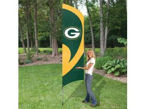 The Party Animal NFL Team Flag with Pole - Green Bay Packers