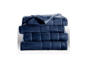 Sunbeam Royal Dreams Heated Electric Blanket Quilted Fleece, King Size,  Newport Blue