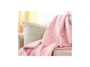 Sunbeam Microplush Electric Heated Throw Blanket Pink 8050-030-700