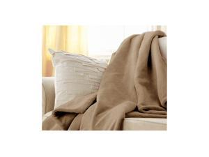 Sunbeam Microplush Electric Heated Throw Blanket in Mushroom 8005-045-772