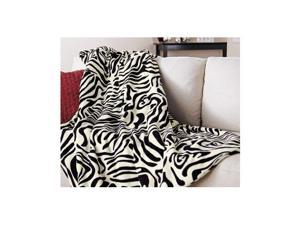 Sunbeam Microplush Electric Heated Throw Blanket Zebra Pattern