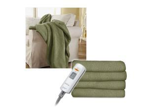 Sunbeam Microtec Ultra-Soft Heated Electric Throw Blanket - Sage Green