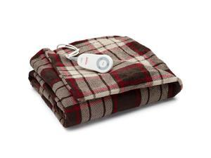 Sunbeam Microplush Electric Heated Throw Blanket Canyon Plaid