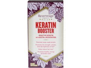 Keratin Booster w/ Biotin & Resveratrol - Reserveage - 60 - VegCap