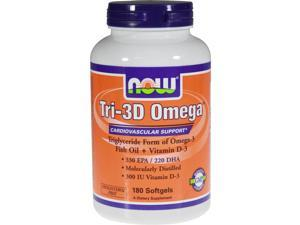 Tri-3D Omega Triglyceride Form - Now Foods - 180 - Softgel