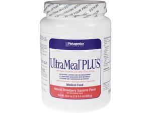 Metagenics, UltraMeal PLUS Natural Strawberry Supreme 23.5 oz