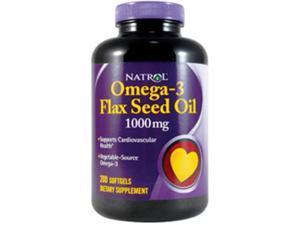 Natrol, Omega-3 Flax Seed Oil 1000 mg 200 Softgels