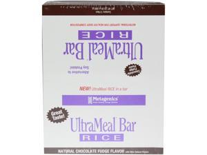 Metagenics, UltraMeal Bar RICE Natural Chocolate Fudge 12 Bars