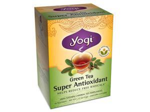 Yogi Green Tea Super Antioxidant, Herbal Tea Supplement, 16-Count Tea Bags