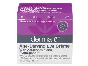 Age-Defying Eye Crme  With Astaxanthin and Pycnogenol - Derma-E - 0.5 oz - Cream