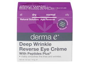Deep Wrinkle Reverse Eye Crme  With Peptides Plus - Derma-E - 0.50 oz - Cream